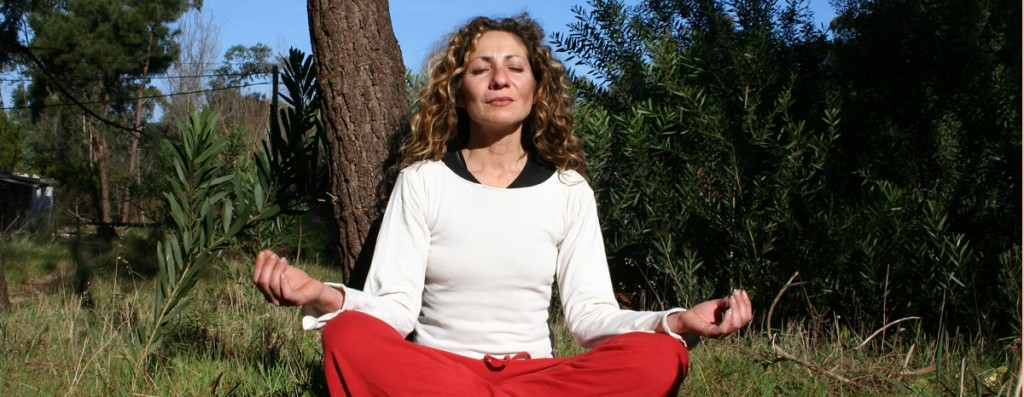 woman-yoga-forest